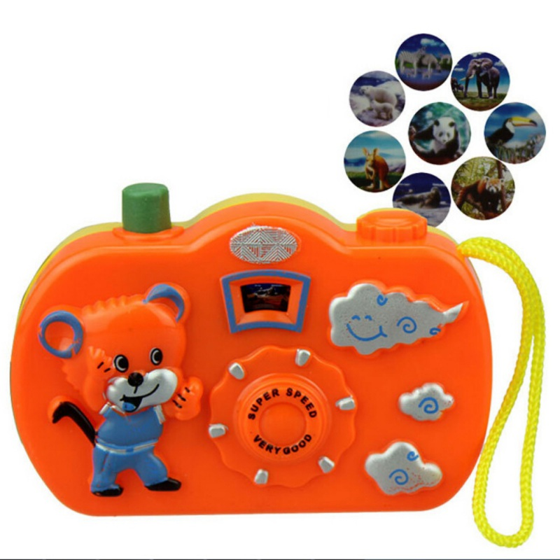Baby Play Projection Camera <font><b>Toys</b></font> Animal Model Light Projection Education Learning <font><b>Toy</b></font> for Children image