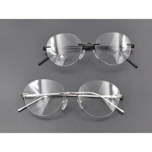 Image 5 - Unisex Pilot fotokromik miyopi gözlük kadın erkek yuvarlak çerçevesiz titanyum miyop gözlük sürüş güneş gözlüğü N5