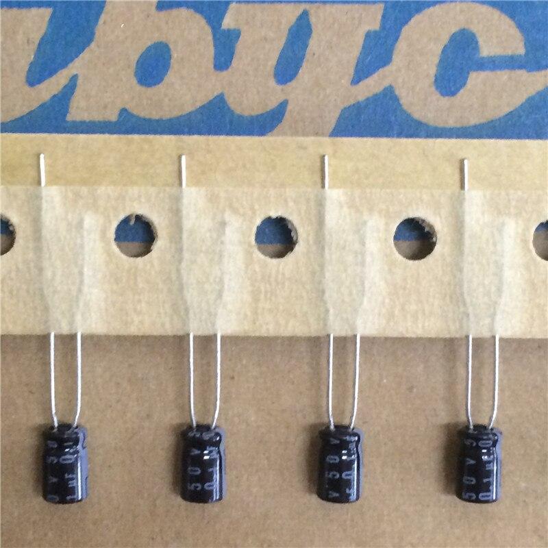 15pcs 0.1uF 50V RUBYCON MS7 Series 4x7mm 50V0.1uF Aluminum Electrolytic Capacitor