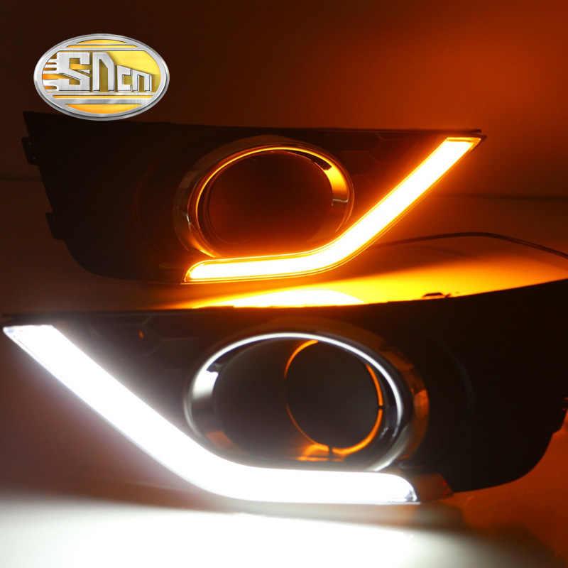 لهوندا BRV BR-V 2015 2016 النهار تشغيل ضوء LED DRL ABS الضباب غطاء المصباح مصابيح القيادة الأصفر بدوره مصباح إشارة 12 فولت التتابع