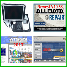 2020 alldata 10.53 소프트웨어 + m .. chell 2015 + ATSG 2017 3in 1 테라바이트 노트북에 설치된 Toughbook CF19 4gb 노트북
