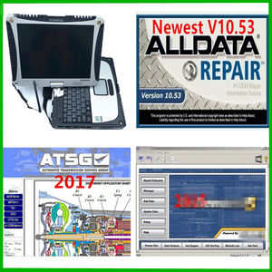 Image 1 - 2020 alldata 10.53 소프트웨어 + m .. chell 2015 + ATSG 2017 3in 1 테라바이트 노트북에 설치된 Toughbook CF19 4gb 노트북