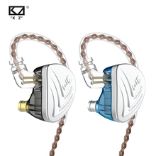 Kz as16 16ba unidades armadura balanceada de alta fidelidade graves no monitor fones com cancelamento ruído fones ouvido para o telefone