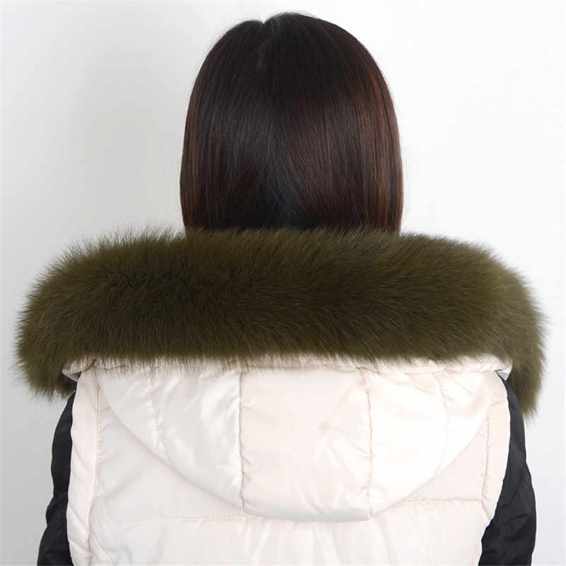 Delle donne di Inverno 100% Vera Pelliccia di Volpe Collare Sciarpa Cappotto di Pelliccia Del Collare di Lusso Sciarpe di Pelliccia di Volpe Genuino Caldo Degli Scaldini Del Collo Scialle