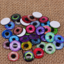 40pcs/lot 14mm Pupil Eye Pattern Thin Eye Chips Suitable for Blythe Doll DIY Making Findings & Components BT014