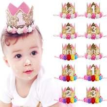 Милые детские повязки на голову 1 год милые блестящие ободки
