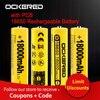Batterie Rechargeable au Lithium 18650 V batterie 3.7V pour lampe de poche PCB batterie avec chargeur de batterie 18650 USB gratuit