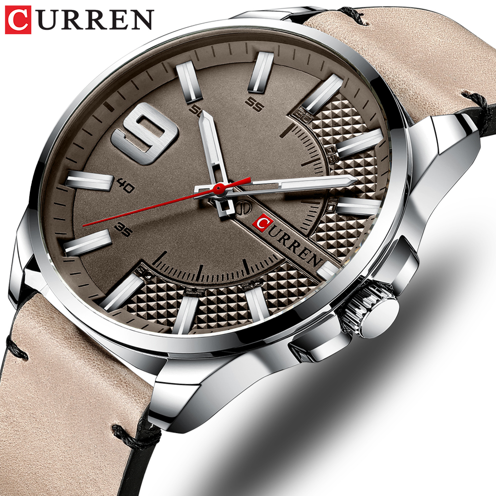 Top Brand Luxury Business Watch Men CURREN Watches Men's Quartz Leather Wristwatch Luminous Hands Clock Male