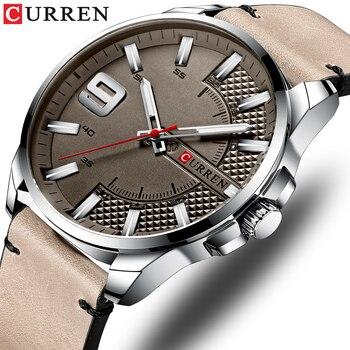 Top Brand Luxury Business Watch Men CURREN Watches Men's Quartz Leather Wristwatch Luminous Hands Clock Male - discount item  55% OFF Men's Watches