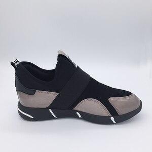 Image 5 - 2019 春の新ファッションpuレザープラットフォームスニーカー身長の増加プラットフォームスニーカー女性靴女性