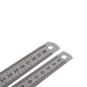 Double Side Stainless Steel Straight Ruler Metric Rule Precision Measuring Tool 15cm/6 inch 30cm/12 inch School Office Supplies