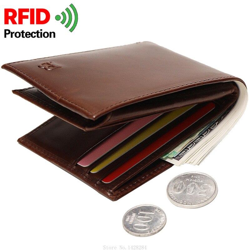 Xiaomi lüks hakiki deri erkek RFID cüzdan sikke çanta erkek para çantası çok fonksiyonlu kart durumda kart sahibinin
