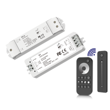 Dimmer Controller Pwm Cv Enkele Kleur Led Strip 1 Kanaal 8A 15A Rf 2.4Ghz 5-36VDC 40W-360W Push/Slide Touch Remote 1-4 Zone