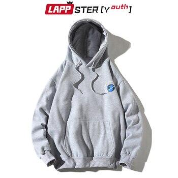 LAPPSTER-Youth Men Patchwork Streetwear Hoodies 2020 Autumn Pullover Man Harajuku Sweatshirts Oversized Yellow Hoodies Plus Size