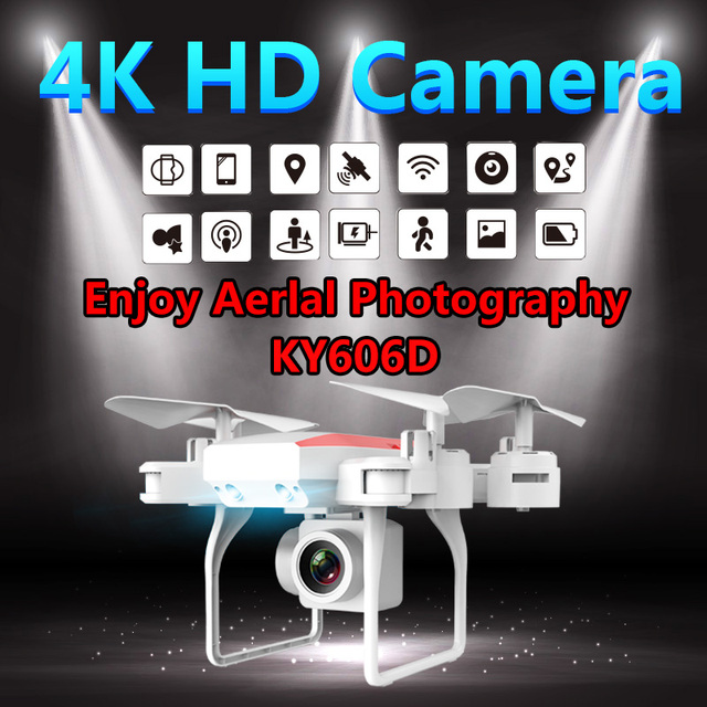 KY606D Drone 4K Rc Helicopter Drones with Camera HD Long Flying Time RC GPS Drone wifi FPV Quadcopter Foldable Toy