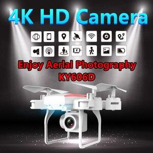 Image 1 - KY606D Drone 4K Rc helikopter Drones kamera ile HD uzun uçan zaman RC GPS Drone wifi FPV Quadcopter katlanabilir oyuncak