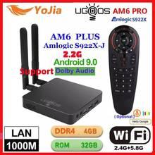 UGOOS AM6 Più Il TV BOX Android 9.0 Amlogic S922X AM6 Pro 4K Media Player DDR4 4GB di RAM 32GB ROM 2.4/5G WiFi 1000M LAN BT 2G16G OTA