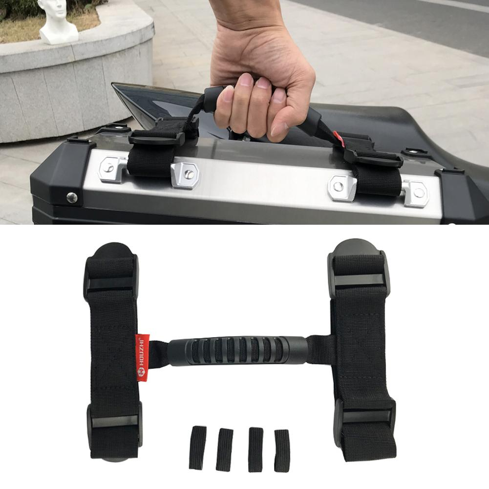 Motorcycle Alloy Side Box Handle Rope Portable Top Strap Carry Handle Rope For Case Or Box Motorbike Accessories