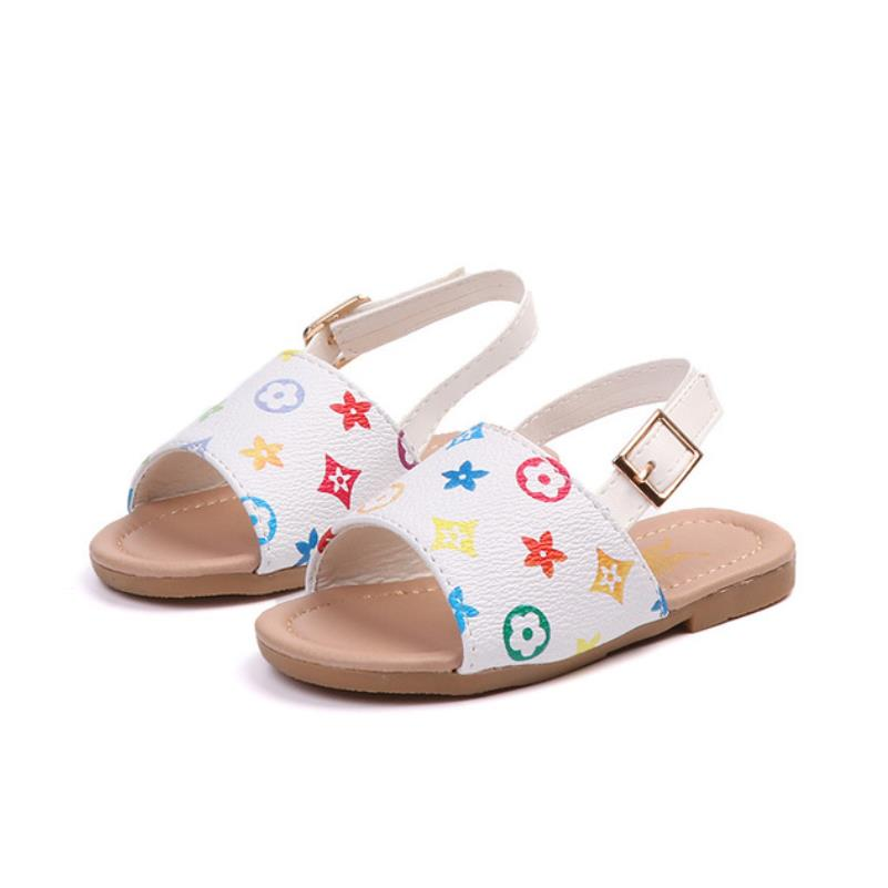 Hot Summer Kids Sandals For Boys Girls Leather Sandals Children Beach Shoes Fashion Non-slip Soft Bottom Sandals Comfortable
