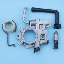 Oil Pump Oiler Worm Gear Kit For Stihl 044 MS440 MS 440 Chainsaw Hose Line Filter 1128 640 3205 Replacement Spare Parts