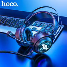 HOCO Led Light Gaming Headset Studio DJ Headphones Stereo Over Ear Wired Headphone With Microphone For PC PS4 Xbox One Gamer