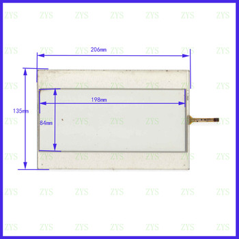 5PCS/LOT XWT490  206*135mm 10.1inch 4lines resistance screen  this is compatible XWT 490 206*135MM