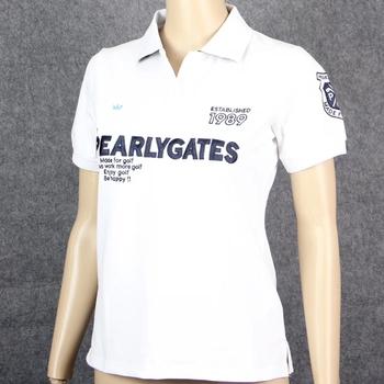 Nowe ubrania do gry w golfa handlu zagranicznego lato kobiet T-shirt do golfa PG wygodne oddychające na co dzień mody koszulka sportowa darmowa wysyłka tanie i dobre opinie WOMEN Poliester Akrylowe Krótki Przeciwzmarszczkowy Szybkie suche Koszule Pasuje prawda na wymiar weź swój normalny rozmiar
