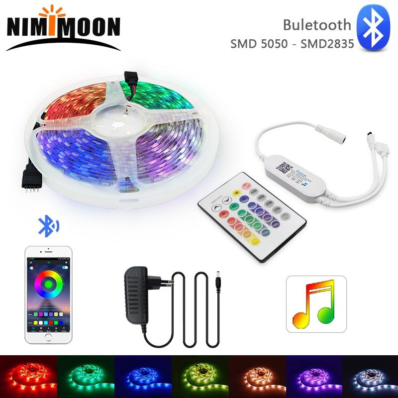 DC12V Bluetooth Music SMD 2835 5050 LED Strip Light RGB Flexible Ribbon LED Light 5M 10M 15M 20M Tape Diode Bluetooth Control
