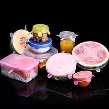 Meijuner 6 шт силиконовая крышка для пищевых продуктов силиконовые