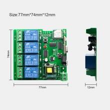 APP eWeLink Smart Remote Control Wifi wireless Switch Module 4CH 12V 24V 220V 75V 250V RF Receive 433MHz Remote Transmitter
