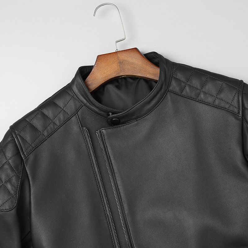 Genuine Leather Sheepskin Jacket Men Spring Autumn Motorcycle Leather Coat Men's Leather Jackets 2020 3925 Kj2989