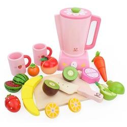 Juguetes para jugar a las casitas de madera para niños, exprimidor de verduras y frutas, cultivo cognitivo de interés, regalo de cumpleaños para niñas