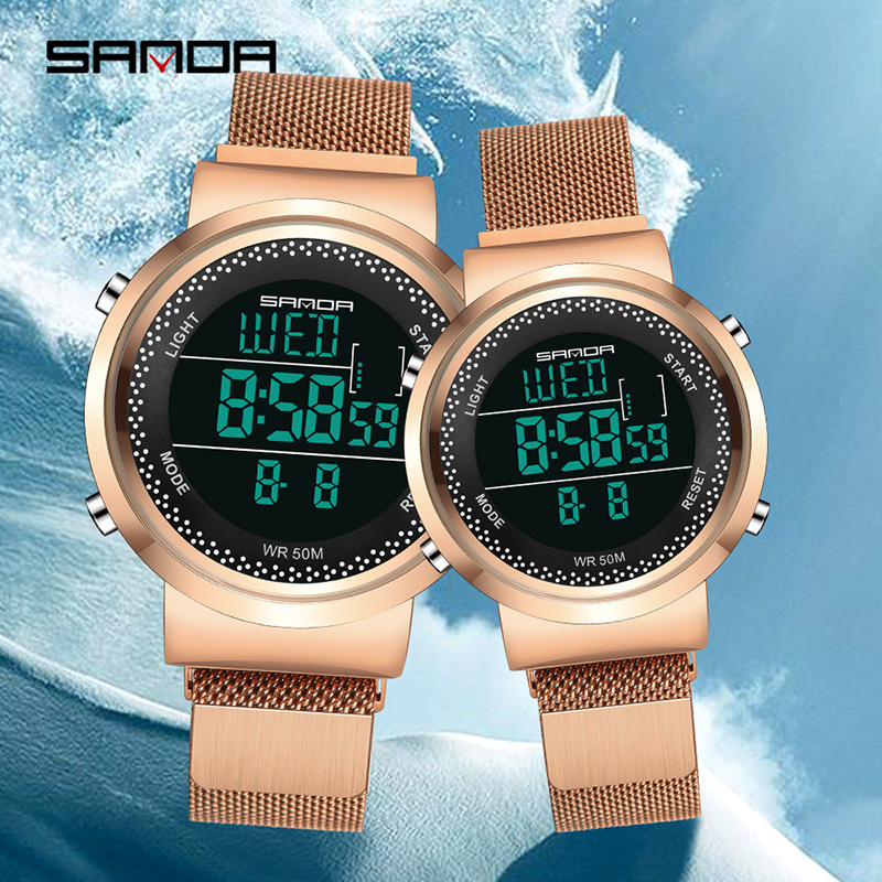 Sanda Couple Watch 2020 Mens Watches Top Brand Luxury Quartz Watch Women Clock Ladies Dress Fashion Casual  Lovers Wristwatch