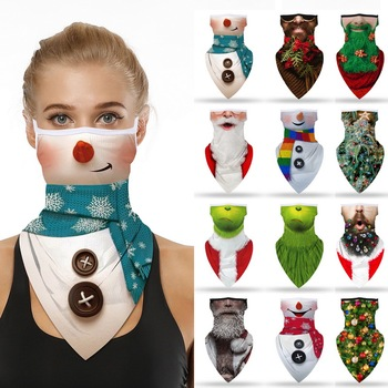 Christmas Motorcycle Cycling Neck Scarf Cover Bandana Headband Sports Scarf Neck Face Scarves Outdoor Riding Hiking Face Cover face sheild outdoor bandana cycling scarf dustproof neck gaiters tube hiking scarves sports bandanas mouth protection scarf