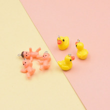 10pcs Cute Infant Baby Doll Resin Charms Jewelry Findings Making for Necklace Earrings Lovely Yellow Duck Charm Craft C421
