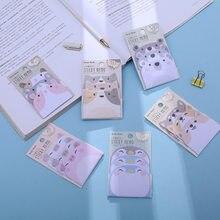 Bloco de memorando urso dos desenhos animados animais bloco de memorando n posts caderno notas pegajosas kawaii papelaria planejador estudante material escolar caderno
