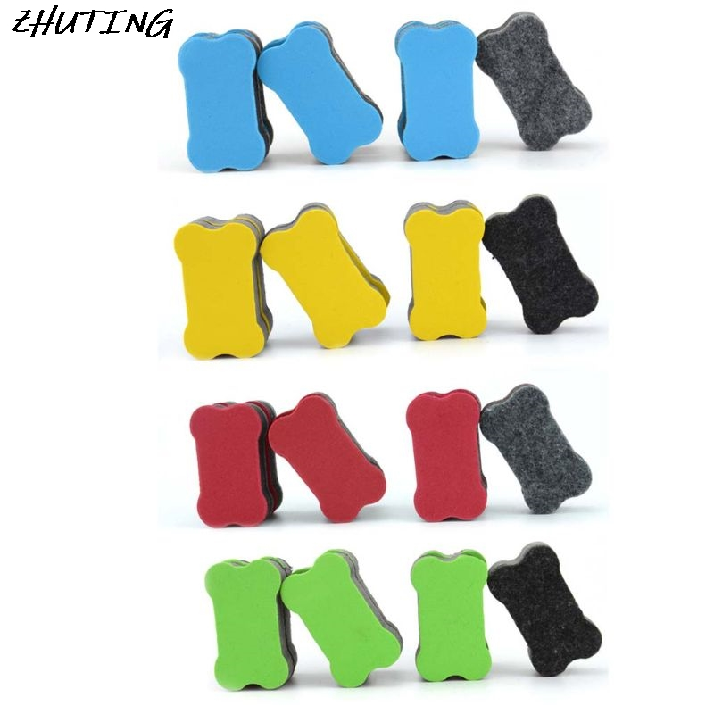 24 Pack Bone Magnetic Whiteboard Dry Erasers Marker Cleaner Wipe For Home Classroom Office School Supplies Stationery