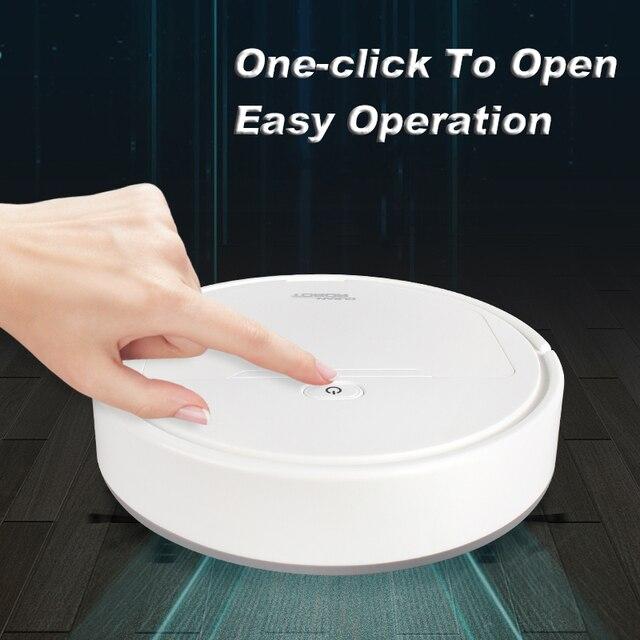 Robot de nettoyage Intelligent entièrement automatique Machine de nettoyage à domicile aspirateur multifonctionnel vadrouille balayeuse 3 couleurs