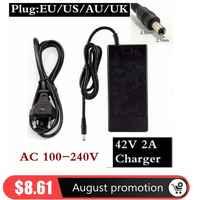 36V 2A Elektrische Fahrrad Batterie Ladegerät Ausgang 42 V 2 EIN Ladegerät Eingang 100-240 VAC Lithium Li-Ion li-poly Ladegerät für 10serie