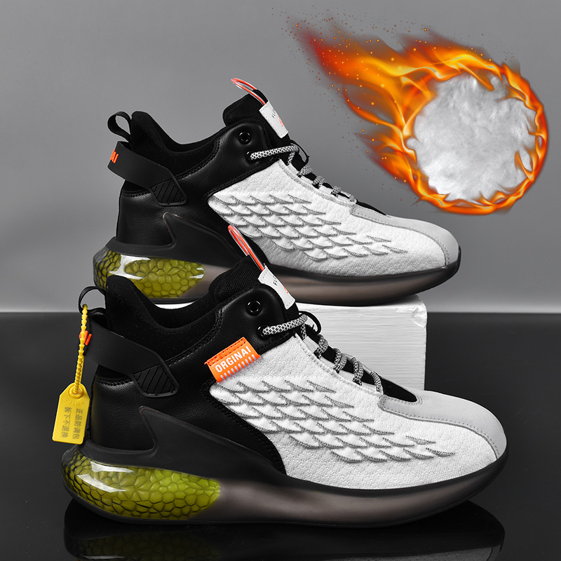Zapatos Deportivos Informales Para Hombre, Calzado Cálido De Algodón, Para Correr, Felpa Cómoda, Tendencia De Baloncesto, Para Invierno, 2021