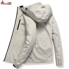 Erkekler rahat su geçirmez ceket erkekler bahar sonbahar turizm rüzgarlık bombacı ceket erkek yağmurluk rüzgar geçirmez kapüşonlu ceket L ~ 5XL