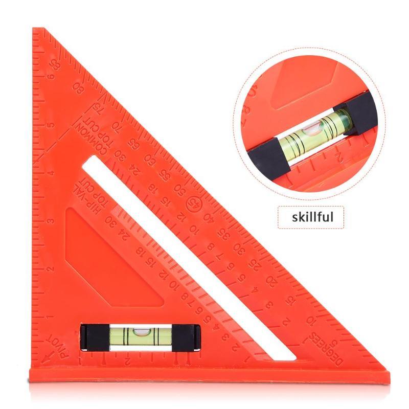 Multi-fonction Règle de Triangle avec Horizontale 45 Degrés Angle Règle Rapporteur Carré Mètre Menuiserie Industrielle Measuremt