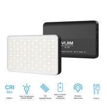 Bi-color temperatura mini led vídeo fill-in selfie luz 3200 k-6500 k fotografia pode ser escurecido cri95 + built-in bateria recarregável