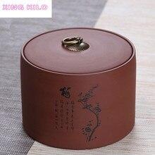 XING KILO 1000ml Multipurpose storage tank Large Tea Caddy Ceramic Pu'er Tea Sealed Jar Original Mine Tea Set Purple Sand Box стоимость