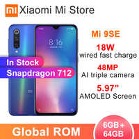 """In stock Global ROM Xiaomi Mi 9 SE 6GB 64GB Smartphon Snapdragon 712 48MP Cameras 5.97"""" AMOLED Screen 18W wired fast charge"""