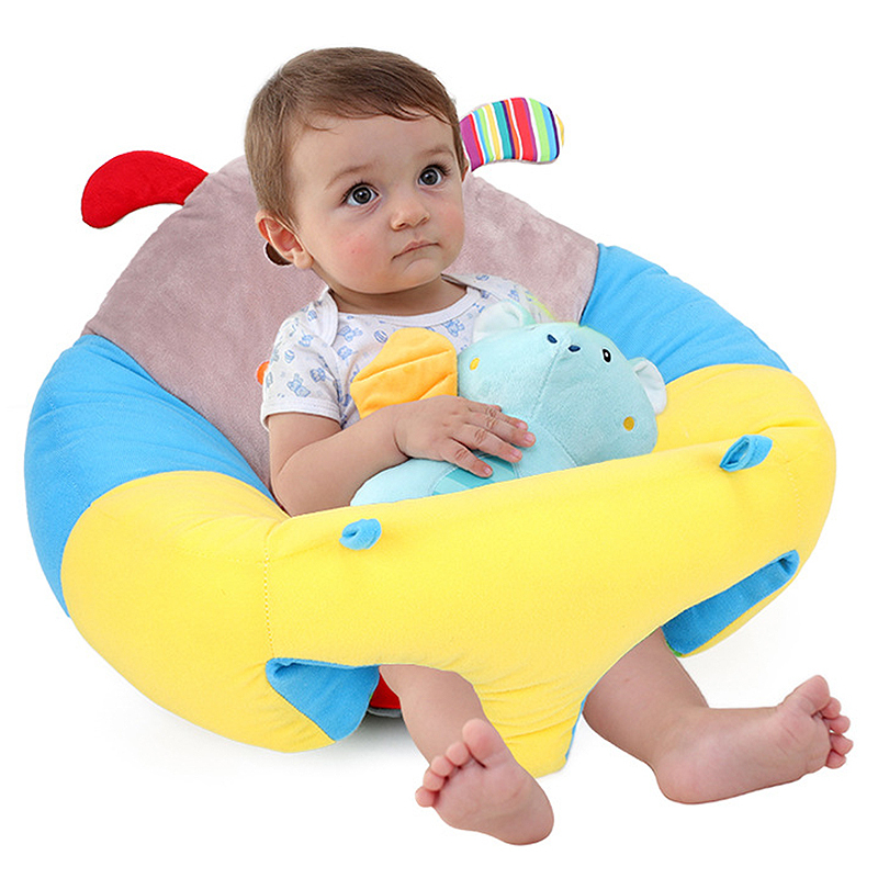 Children Chair Kids Plush Cushion Sofa Soft Baby Infant Support Seat Portable Travel Safety Cute Cartoon Animals Sofa Seat