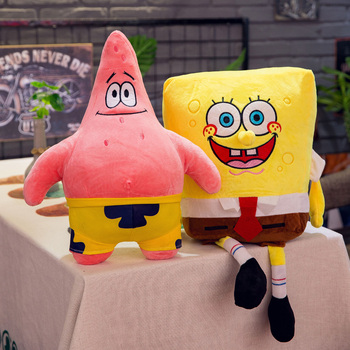 40-100cm Giant Cute Baby Toy Spongebob Patrick Star Plush Toys Cartoon Soft Animal Pillow Anime Doll Children Kids Birthday Gift 40 100cm giant cute baby toy spongebob patrick star plush toys cartoon soft animal pillow anime doll children kids birthday gift