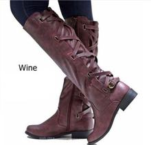 2019 long black leather rain boots women winter shoes knee high boots overknee punk shoes boot heels botas largas booties shoe(China)