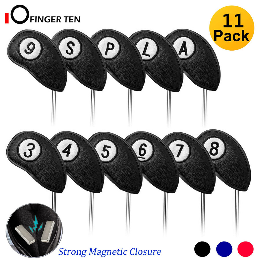 Golf Head Covers Iron Set 11 Pcs No.On Both Sides For Right & Left Handed Golfer With Strong Magnetic Closure