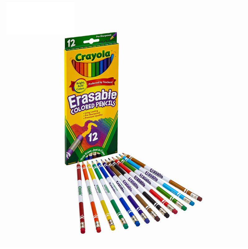 Crayola 12 Color Wipable Colored Pencils Children'S Educational Painting Toy 68-4412